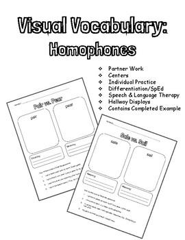Visual Vocabulary: Homophones