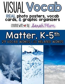 Visual Vocabulary - Matter {Tier-Three Vocabulary Resource