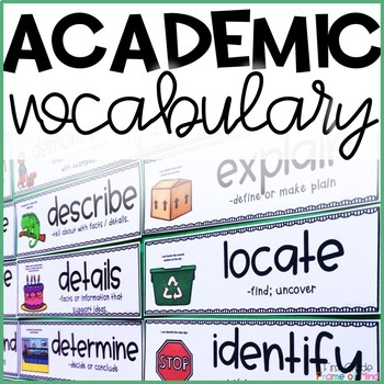 Visual Vocabulary Word Wall Cards with Definitions