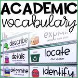 Academic Vocabulary Wall Cards with Pictures