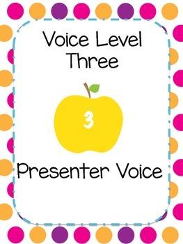 Classroom Management Visual Voice Level Chart