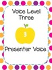 Classroom Management Visual Voice Level Chart