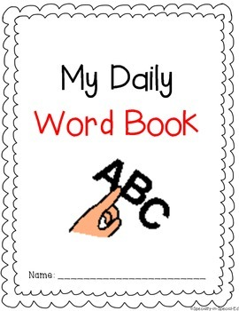 Visual Word Book for children with Autism, Special Education, or Early Childhood