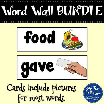 Visual Word Wall: BUNDLE of Fry's First 500 Words!