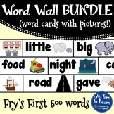 Visual Word Wall with Pictures: Complete BUNDLE of Fry's F