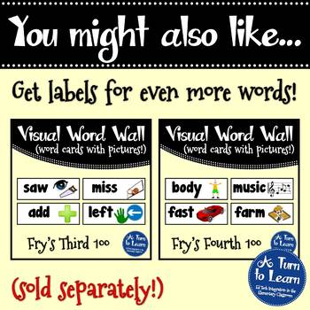 Visual Word Wall Cards: Fry's Fifth 100 Words