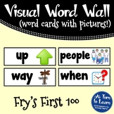 Visual Word Wall Cards: Fry's First 100 Words