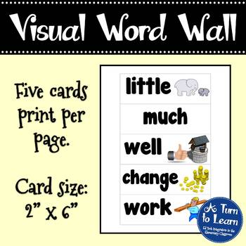 Visual Word Wall Cards: Fry's Second 100 Words