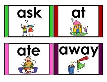 Visual Word Wall Words