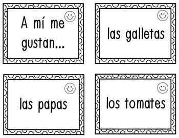 Visual Word Web for Me gusta(n) and Me encanta(n)