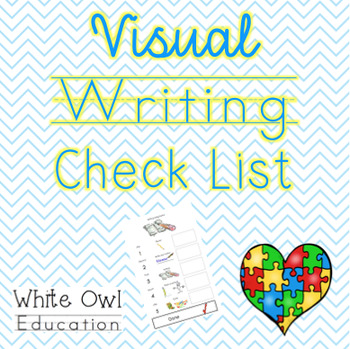 Visual Writing Check List Autism Support (ASD)