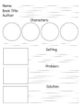 Visual & Writing Story Map 1 (Problem & Solution) -HWT