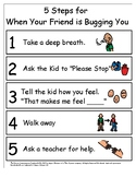 Visual and Activities for Problem Solving Peer Conflicts
