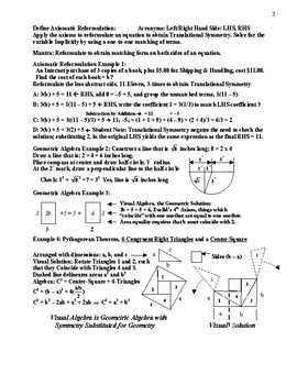 Visual and Numerical Solution of Algebraic Equations