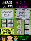 Visual and Picture Directions (English and Spanish)