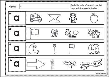 Alphabet - Visual Discrimination Worksheets - Look, Say, Listen, Circle