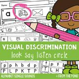 Alphabet - Visual Discrimination Worksheets - Look, Say, L