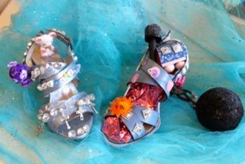 Visual arts - Junk Art - Cinderella's shoes