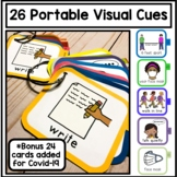 Portable Visual Cue Directives. Autism, Communication, Auditory. 2 Sizes.