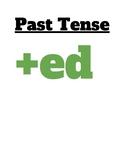 Visual cue for regular past tense