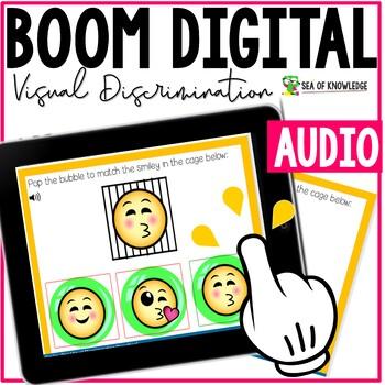 Visual discrimination Activity Emoji Theme Boom Digital Slides
