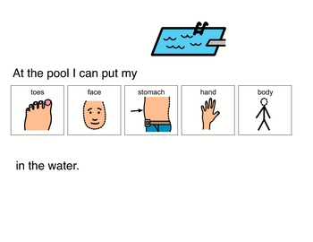 Visual for swimming - special education - autism