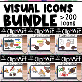 Visual Icons with Text | Distance Teaching Learning Moveab
