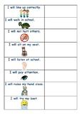 Visual individual Rules and Behaviour checklist.