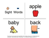 47 Visual (BOARDMAKER) Sight Word Flashcards for Autism or