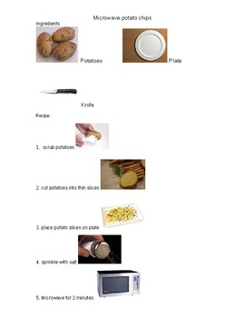 Visual microwave potato chips recipe