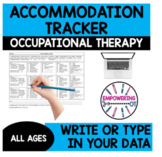 Visual motor, fine motor, sensory processing IEP accommodation tracker SPED