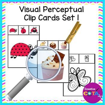 Visual perception clip cards Set 1