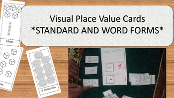 Visual place value cards