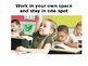 Visual posters for teaching procedures
