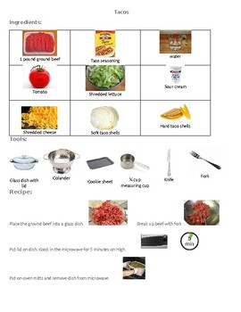 Visual recipe Tacos
