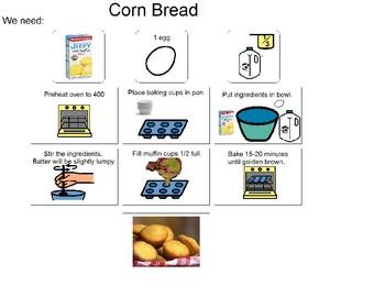 Visual recipe for Cornbread