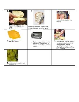 Visual recipe subs/hoagies