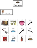 Visual recipe to make pancakes for students with autism