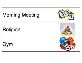 Visual schedule Kindergarten