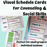 Visual schedule cards for counseling and social skills