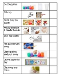 Visual schedule to Paint