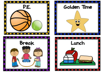 Visual timetable for Irish classrooms with editable cards
