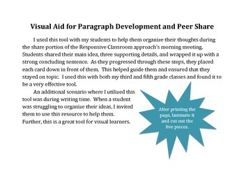 Visual/Hands-On Aid for Paragraph Development/Organization and Peer Share