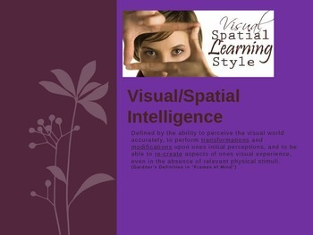 Visual/Spatial Intelligence PowerPoint