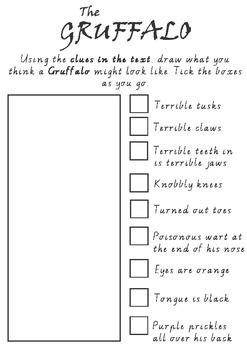 Visualising - Drawing 'The Gruffalo'