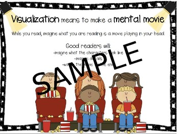 Movie Themed Visualization Unit + Graphic Organizers
