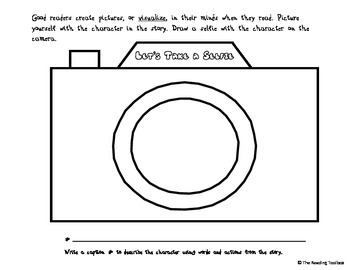 Visualizing Reading Strategy: Let's Take a Selfie Organizers and Anchor Chart