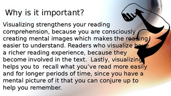 Visualization Reading Strategy for upper elementary