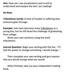 Visualization, Retelling and Grammar Review - ELA