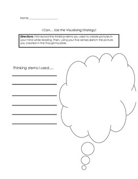 Visualization Strategy Graphic Organizer